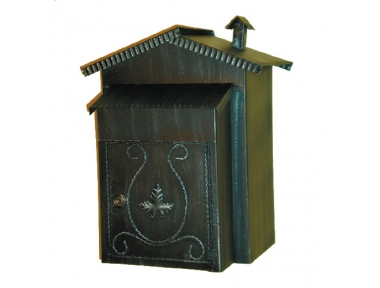 6009 Mailbox mit Dach und Kamin Schmiedeeisen Lorenz Ferart