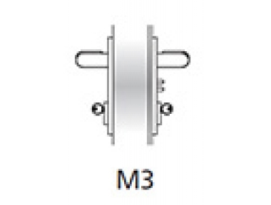 Griff Emergency Kit Ninz M3 Feuerschutztür Kunststoff Schwarz s = 60mm