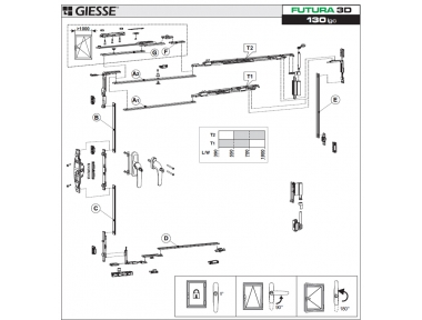 Anta Ribalta 3D Futura für Cremonese Logic Konfigurations-Base Giesse