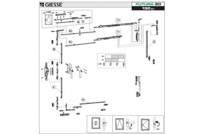 Anta Ribalta 3D Futura für Hammer Logic Konfigurations-Base Giesse