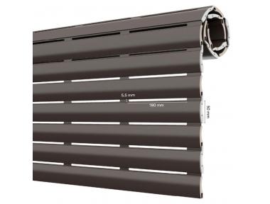 AriaLuce 50 Pinto Rollladen aus Aluminium mit hochdichtem Polyurethan