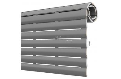 AriaLuce 50 Pinto Rollladen aus Isoliertem Aluminium Mittlerer Dichte