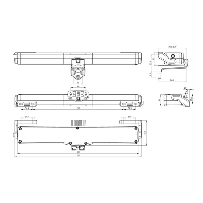 Antrieb Ketten Kato 253 Nekos 230V 250N Stroke Wählbare 240 / 360mm