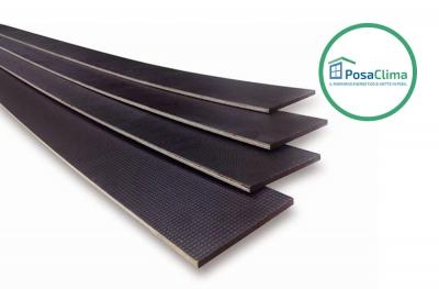 Profil PosaClima Battuta für Counterframe in Thermoframe-Holz mit reduzierter Dicke