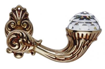 Brillant Crystal Französisch Gold Türgriff auf Rosette Linea Calì Vintage