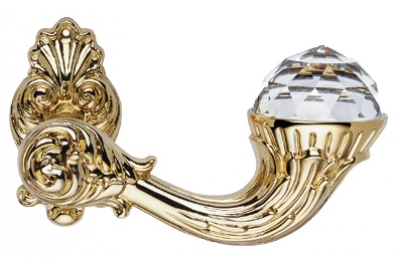 Brillant Crystal Vergoldet Türgriff auf Rosette Linea Calì Vintage