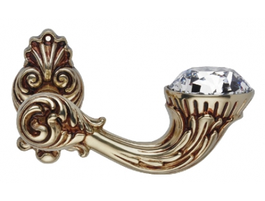 Brillant Diamond Französisch Gold Türgriff auf Rosette Linea Calì Vintage