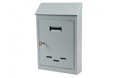 Mail Box Kleine und mittelgrau lackiertem Eisen mit Key IBFM