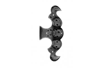 Scharnier Finte 175x75mm Galbusera für Schmiedeeisen Türen und Fenster