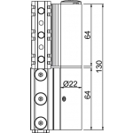 Giesse Scharnier Flash-XL R Series Knoten C007