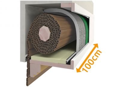 Kompositions box 100 cm für Isolierung der Rollläden PosaClima Renova