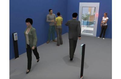 Menschen kontern mit Ampel für Opera Presence Control Shop