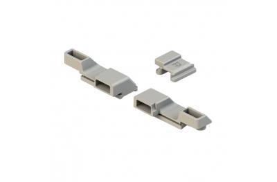 Paar Blocks Anschließen an Cremonese Giesse Griff zum Profil R