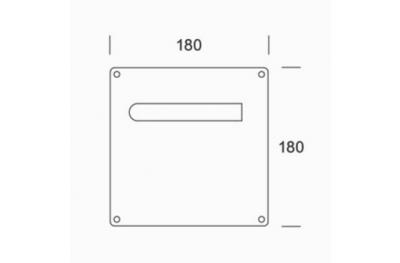 der Griffe von Plattenpaar PBA 2MM.015.00A1 Edelstahl AISI 316L
