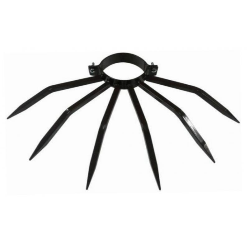 Anti-Diebstahl-Poller Durchmesser 80 mm Grimpo mit Tipps für Outside Pipes Typ Niederschlag in Brown Painted Steel