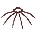 Anti-Diebstahl-Poller Durchmesser 120 mm Grimpo für externe Rohre Typ Niederschlag in braun lackiertem Stahl