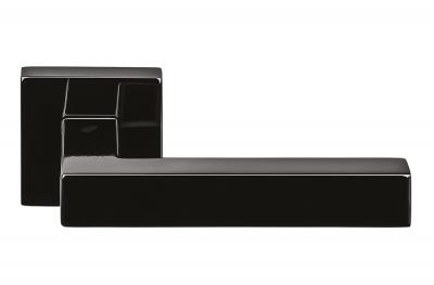 Ellesse Grafite Schwarzer Türgriff auf Rosette von Colombo Design