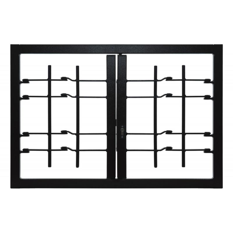 Rost Strong 2 Türen mit gemeinsamen Sicherheitsklasse 3 Rahmen Standard-Leon Openings