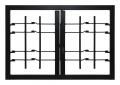 Grating Light 2 Türen mit Joint Security Klasse 3 Rahmen Standard-Leon Openings