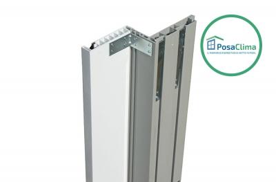 Leitfaden für weiße PVC-Rollläden des Klima Pro PosaClima-Gegenrahmens