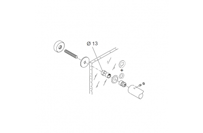 Montagesatz für Griff PBA 02 Einkanalregler für Glastüren