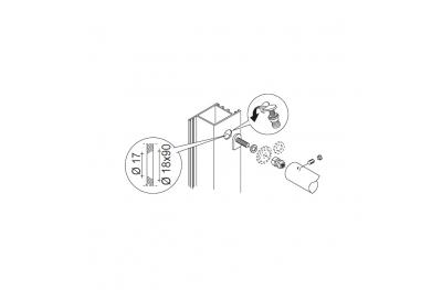 Befestigungssatz PBA 03 Einhand nicht durch Türen beliebig Material