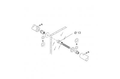 Befestigungssatz PBA 04 für Einhand-Kontrastiert für Türen Glas