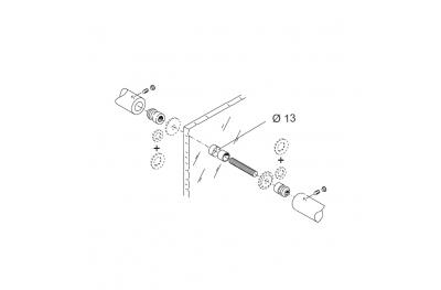 Befestigungssatz PBA 810 Griffe Drehmoment für Türen Glas