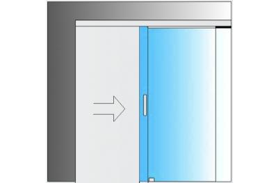 Schiebesatz MiniSlide SbyC Glassystem mit Gleitführung