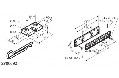Universal-Kit für Anwendungen, die auf Fenster ausstellbar WAY Mingardi Micro L und XL