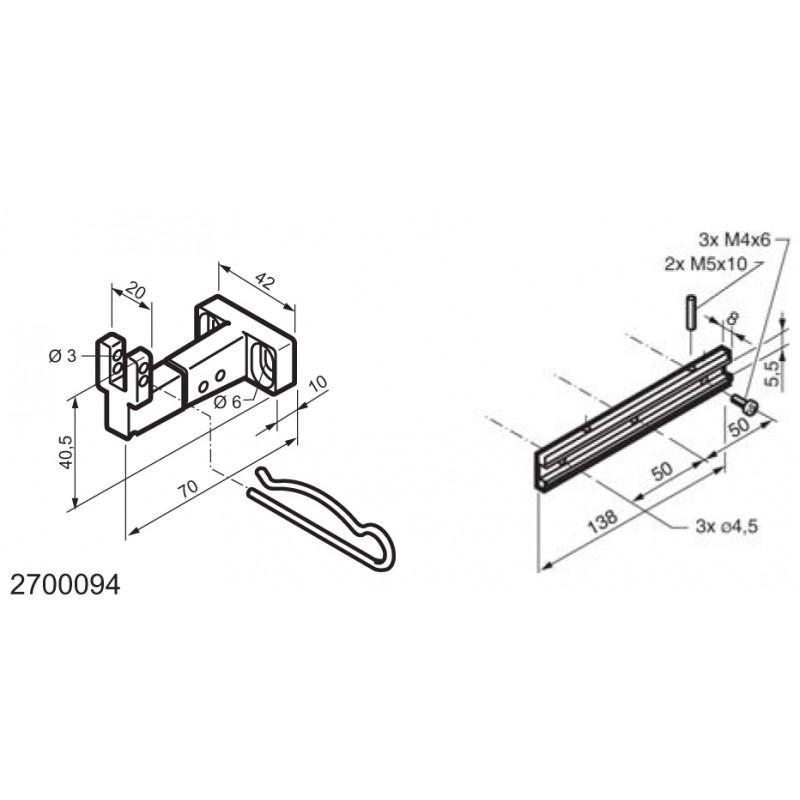 Universal-Kit für den Einsatz auf unten angeschlagene Fenster WAY Mingardi