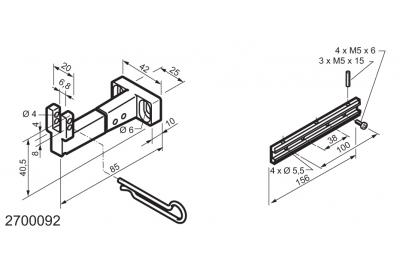 Universal-Kit für den Einsatz auf unten angeschlagene Fenster WAY Mingardi Micro L