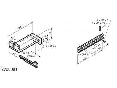 Universal-Kit für den Einsatz auf unten angeschlagene Fenster WAY Mingardi Micro XL