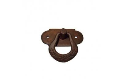 Möbelgriff 038 Galbusera in Schmiedeeisen Kunst mit Ring