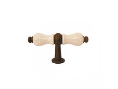 Griff für Möbel Galbusera 5-70 + D6 Schmiedeeisen Porzellan Bayern