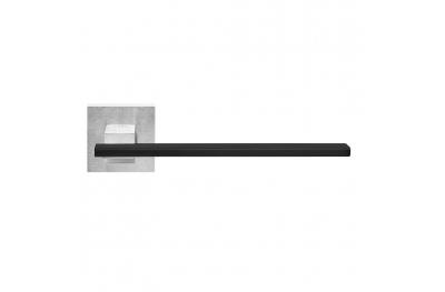 Mailand auf Rosette Griff mit schwarzem Einsatz Messing PFS Pasini i-Entwurf