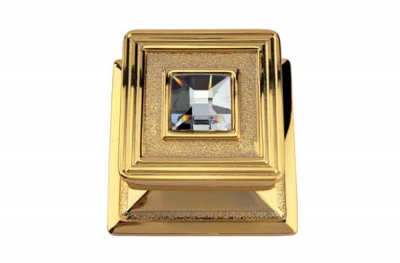 Opera kristall 1056 PT Gold vergoldete feine Türknok Linea Calì mit Swarovski-Kristallen