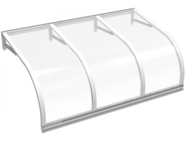 Shelter Cassiopeia Weiß Transparent Aluminium AMA Sonnenschutz