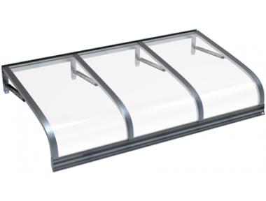 Shelter Euriga Grau Transparent Aluminium AMA Sonnenschutz