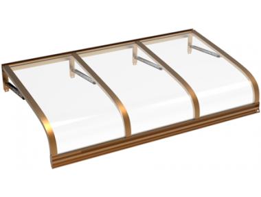 Shelter Euriga Copper Transparent Aluminium AMA Sonnenschutz