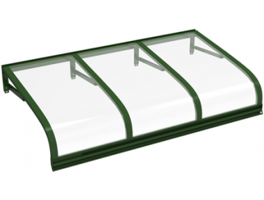 Shelter Euriga Green Transparent Aluminium AMA Sonnenschutz