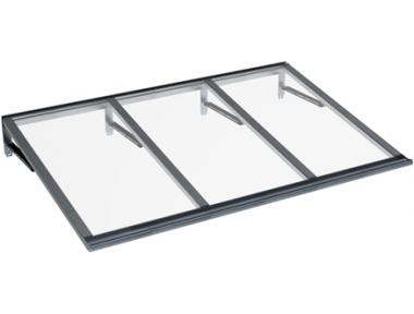 Shelter Lira Grau Transparent Aluminium AMA Sonnenschutz
