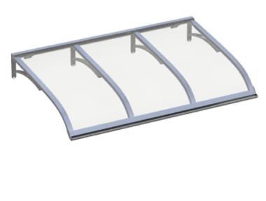 Shelter Vela Aluminium Transparent Aluminium AMA Sonnenschutz