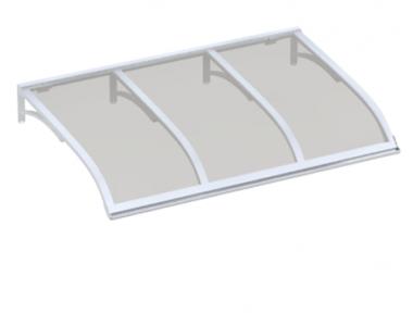 Shelter Vela Weiß Grau Aluminium AMA Sonnenschutz