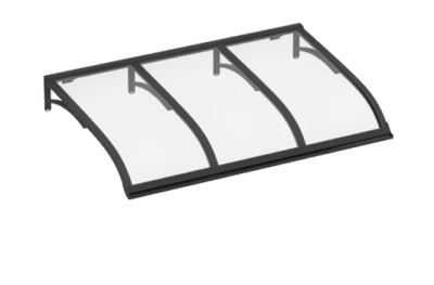 Shelter Segeln Grau Transparent Aluminium AMA Sonnenschutz