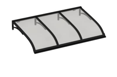 Shelter Vela Schwarz Grau Aluminium AMA Sonnenschutz