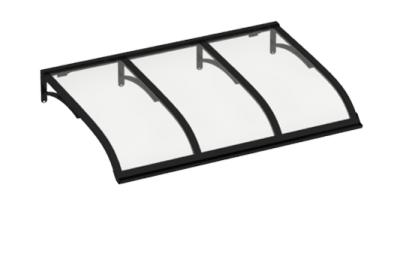 Shelter Vela Schwarz Transparent Aluminium AMA Sonnenschutz
