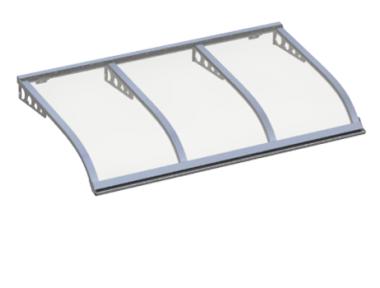 Shelter Segeln Stil Angriff Wand Transparent Aluminium Aluminium AMA