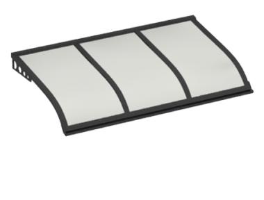 Shelter Segeln Stil Angriff Wand Grau Opal Aluminium AMA