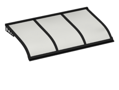 Shelter Segeln Stil Angriff Wand Black Opal Aluminium AMA
